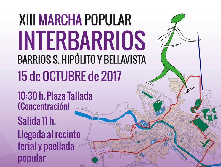 Caminantes de todas las edades recorrerán el domingo Barbastro en la Marcha Interbarrios