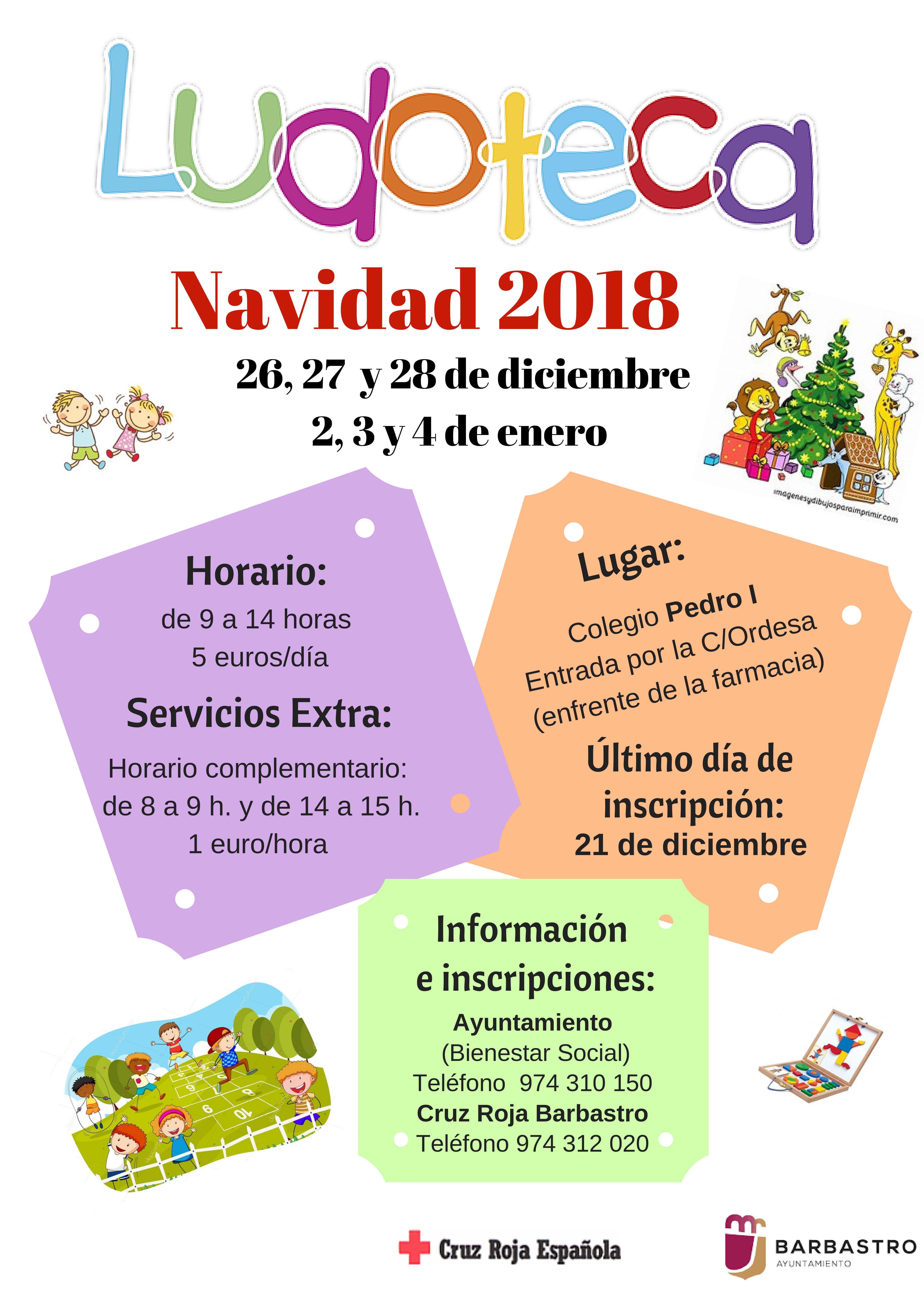 La Ludoteca abre el período de inscripción hasta el 21 de diciembre