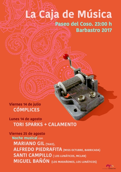 Cómplices, Tori Sparks, Mariano Gil, Santi Campillo, Alfredo Piedrafita..., en La Caja de Música