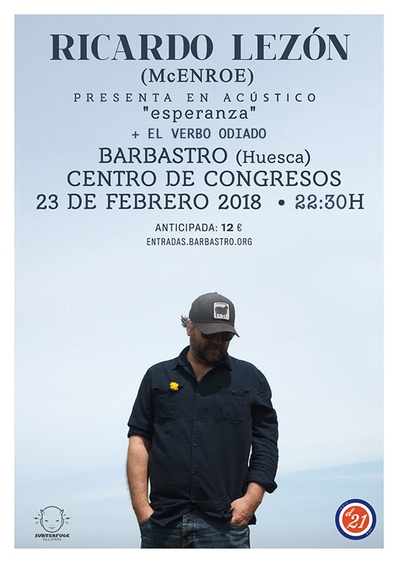 Ricardo Lezón + El Verbo Odiado, concierto doble la noche del viernes