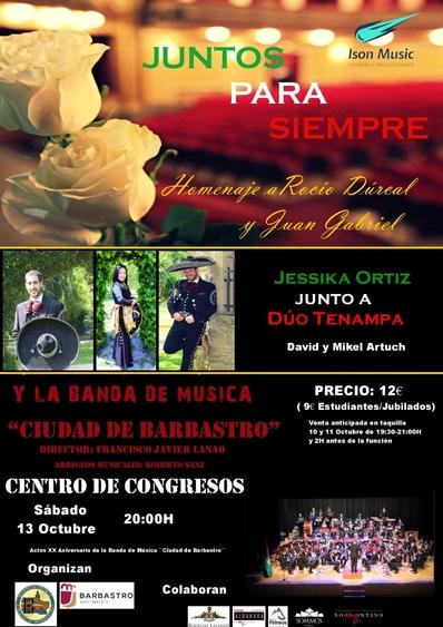 La Banda de Música homenajea a Rocío Dúrcal y Juan Gabriel