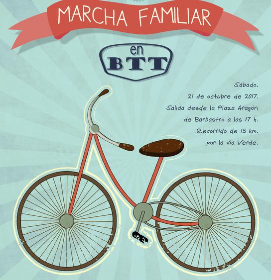 Este sábado, III Marcha familiar en btt dentro del programa Aula en bici