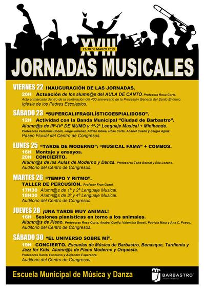Las Jornadas Musicales de la Escuela Municipal de Música y Danza alcanzan la mayoría de edad