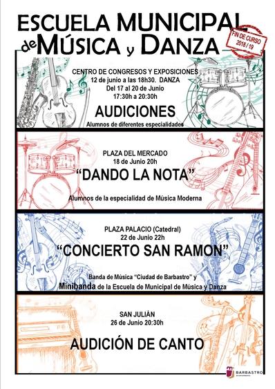Los alumnos de la Escuela de Música  muestran lo aprendido este curso