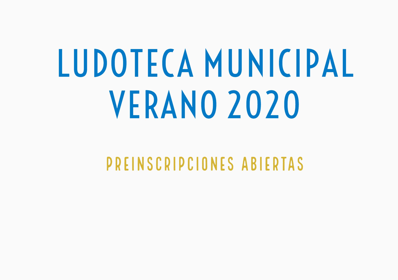 Se abren las preinscripciones para la Ludoteca Municipal Verano 2020
