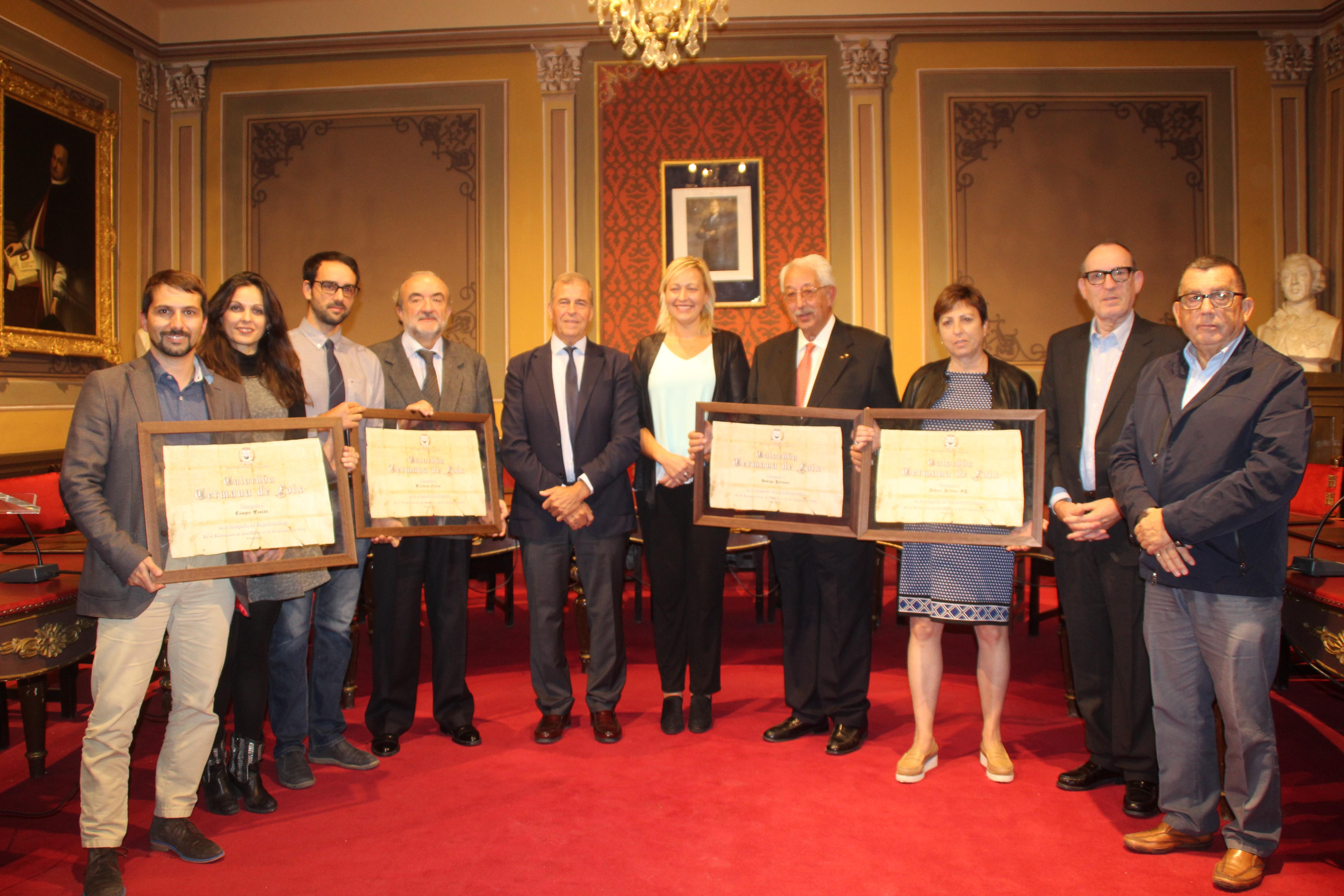 Caluroso reconocimiento a tres empresas centenarias y una nueva apuesta en los Germana de Foix