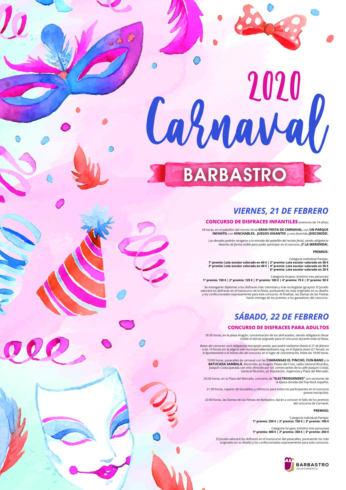 Un carnaval a ritmo de música y concursos de disfraces