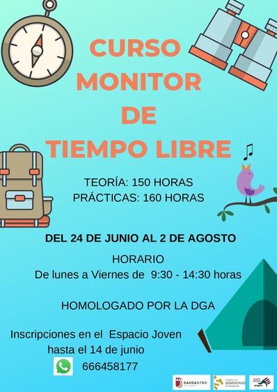 Nuevo curso de Monitor de Tiempo Libre para este verano