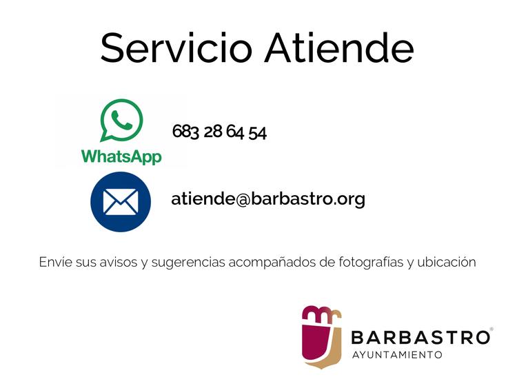 Un correo electrónico y un Whatsapp para avisos y sugerencias