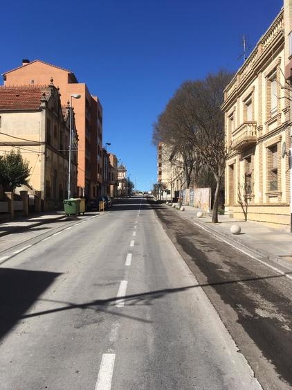 Restricciones al tráfico por obras en la avenida del Ejército Español hasta el viernes