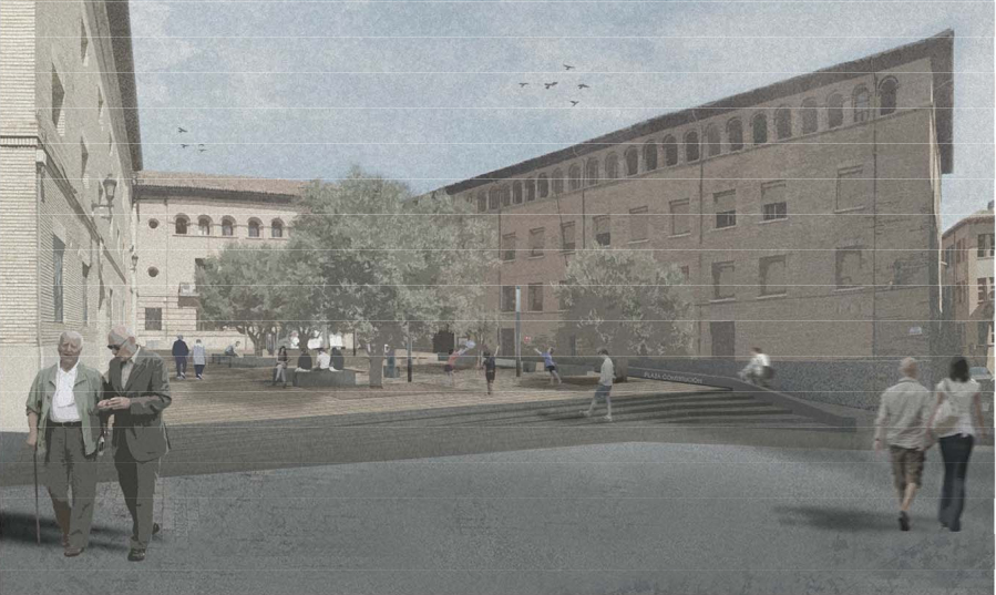 El Ayuntamiento de Barbastro saca a exposición pública el proyecto de reurbanización de la plaza de la Constitución